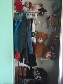 A 13-year-old client's closet organized with the Kon-Mari Method.